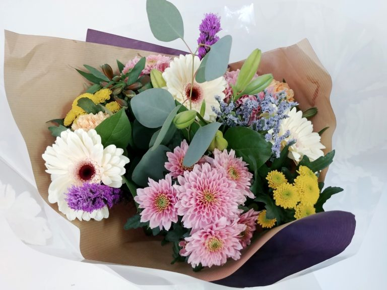 Local Bouquet, Gerbera, Chrysanhemums
